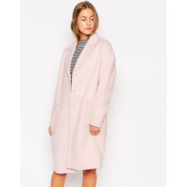 ONLY Long line blazer coat - Coat by Only Mid-weight, soft-touch Fluffy feel fabric...