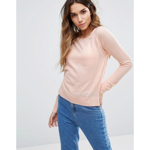 ONLY Ribbed Sweater - Sweater by Only, Ribbed knit, Crew neck, Side splits,...