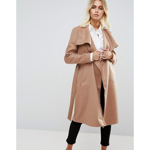 "ONLY Wrap Coat - """"Coat by Only, Stretch woven fabric, Oversized lapels,..."
