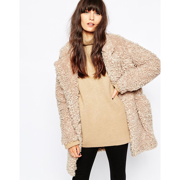PAISIE Fluffy teddy bear coat - Coat by Paisie Soft fluffy feel Notch lapels Side pockets...
