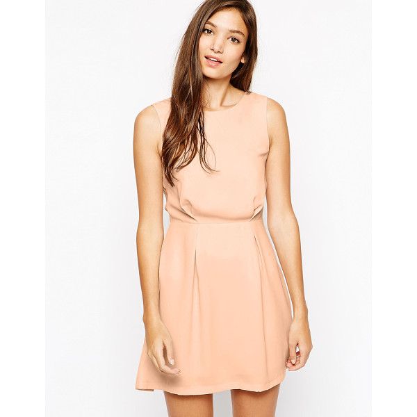 PAISIE Skater dress lace detail - Casual dress by Paisie Lightweight chiffon Boat neckline...