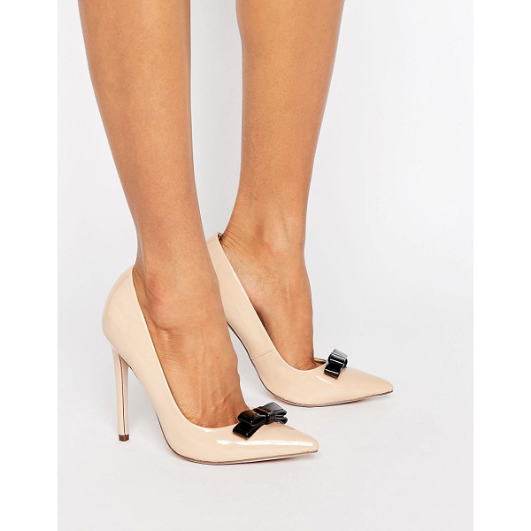 PAPER DOLLS Bow Pumps - Shoes by Paper Dolls, Faux-leather upper, High-shine...