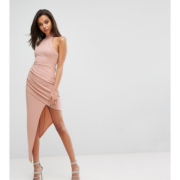 "PARALLEL LINES High Neck Bodycon Dress With Wrap Front - """"Dress by Parallel Lines, Stretch fabric, High halterneck,..."