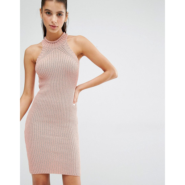 PARALLEL LINES High Neck Knitted Mini Dress - Knit dress by Parallel Lines, Chunky knit, High neckline,...