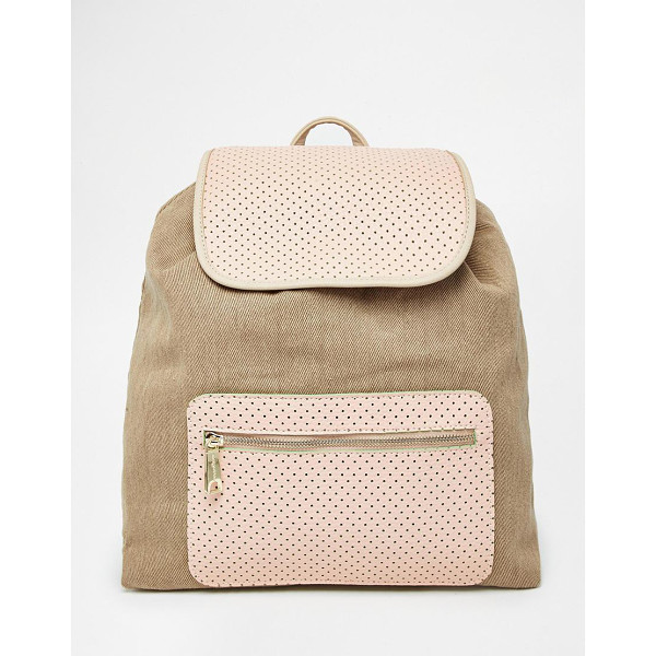 PAUL & JOE SISTER Canvas mix backpack - Cart by Paul & Joe Sister Cotton-rich canvas Perforated...
