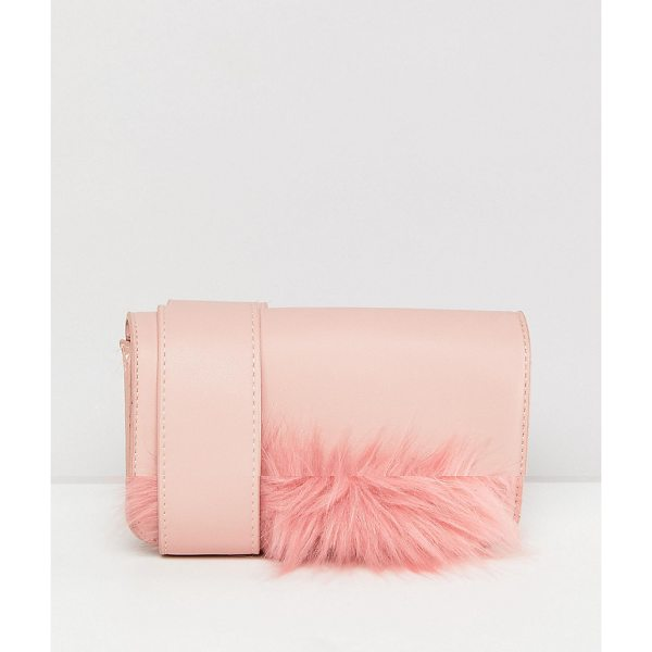 PIECES Faux Fur Panel Camera Bag With Crossbody Strap - Cart by PIECES, Bag it up, Fully lined, Detachable strap,...
