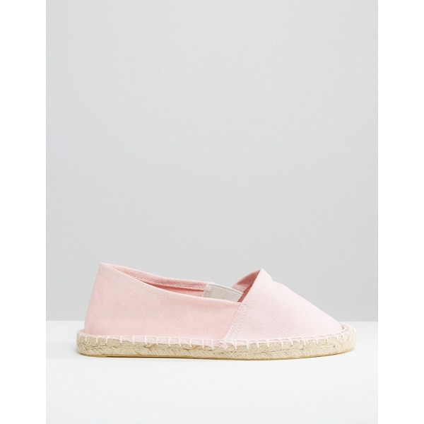 PIECES Haisha english rose espadrilles - Flat shoes by Pieces Textile canvas upper Slip-on style...