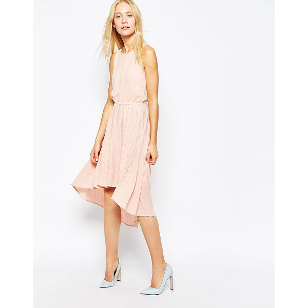 POP CPH Pleated georgette dress - Dress by Pop CpH, Lined, semi-sheer chiffon, Round...