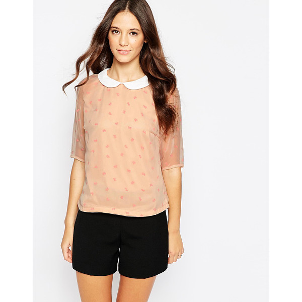 POPPY LUX Bow blouse - Top by Poppy Lux Lightweight, semi-sheer woven Lined body...
