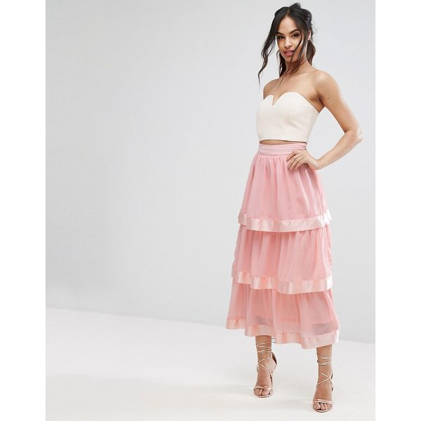 """PRETTYLITTLETHING Tiered Maxi Skirt - """"""""Maxi skirt by PrettyLittleThing, Lined chiffon, High..."""