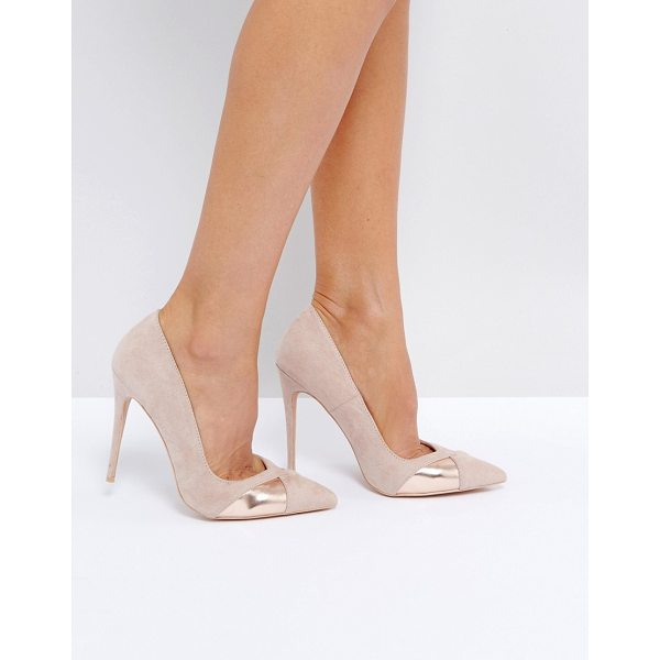 "PUBLIC DESIRE Arno Heeled Shoes - """"Heels by Public Desire, Faux-suede upper, Slip-on style,..."