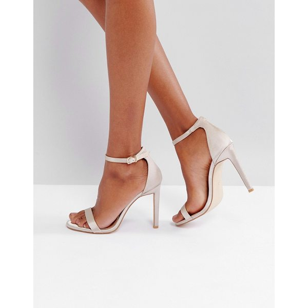 PUBLIC DESIRE Avril Satin Barely There Heeled Sandals - Heels by Public Desire, Satin-style upper, Ankle-strap...
