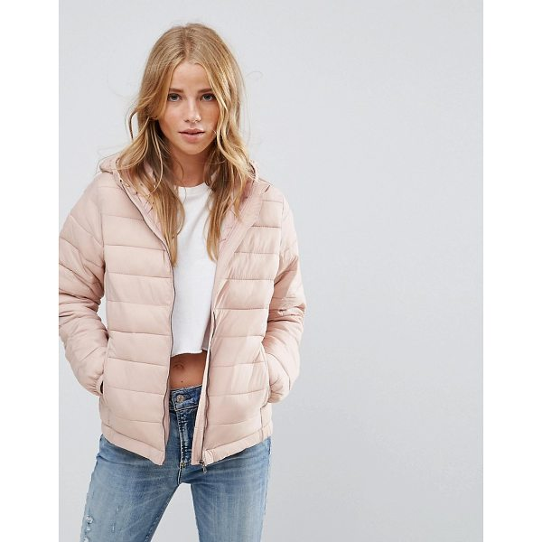 "PULL & BEAR Padded Jacket With Hood - """"Jacket by Pull Bear, Smooth woven fabric, Soft-touch..."