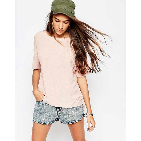 PULL & BEAR Texture Tee - T-shirt by Pull Bear, Lightweight textured jersey, Round...