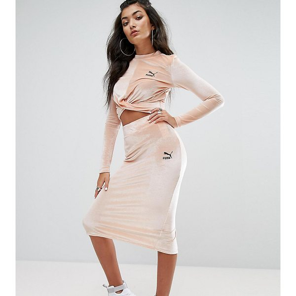 "PUMA Exclusive To ASOS Velvet Bodycon Skirt - """"Skirt by Puma, Soft-touch velvet, High-rise waistband,..."