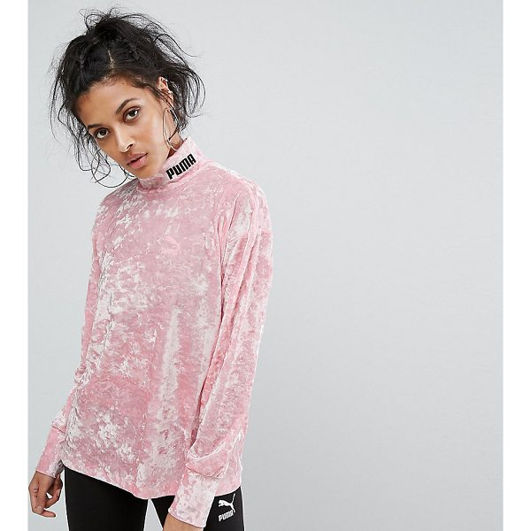 "PUMA Exclusive To ASOS Velvet Sweatshirt - """"Sweatshirt by PUMA, Soft-touch crushed velvet, High neck,..."