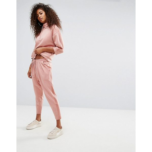 """PUMA High Waisted Sweat Pant With Sheer Panelling - """"""""Sweatpants by PUMA, Soft-touch sweat, High-rise cut,..."""