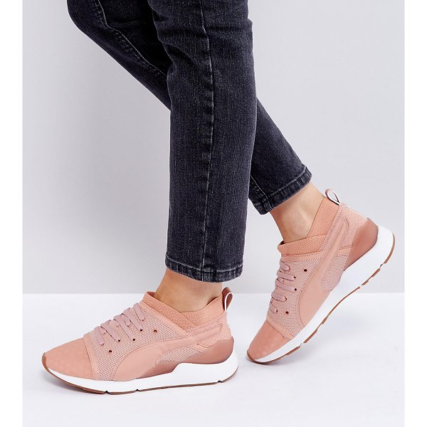 PUMA Pearl Lace Up Sneakers In Pink - Sneakers by PUMA, Mesh upper, Smooth overlays, Lace-up...