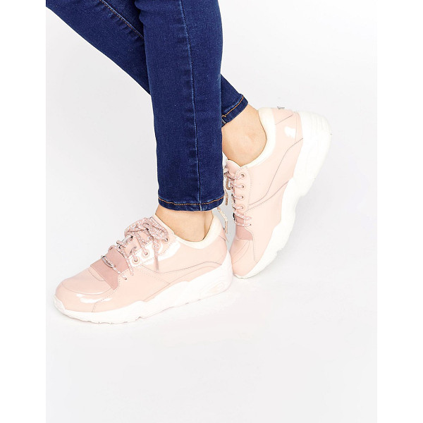 PUMA R698 Sneakers - Sneakers by Puma, Faux patent leather upper, Lace-up...