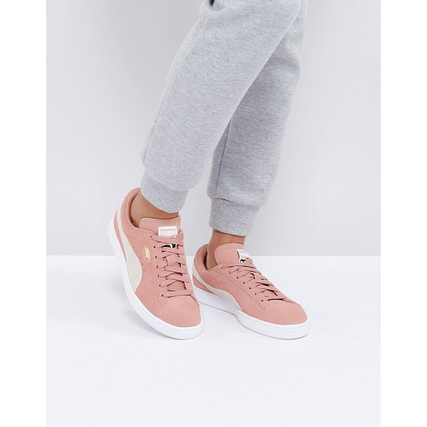 PUMA Suede Classic Sneakers In Pink - Sneakers by PUMA, Suede upper, Lace-up fastening, Branded...