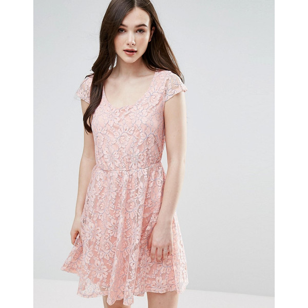 "PUSSYCAT LONDON Lace Skater Dress - """"Evening dress by Pussycat London, Lined lace, Deep scoop..."
