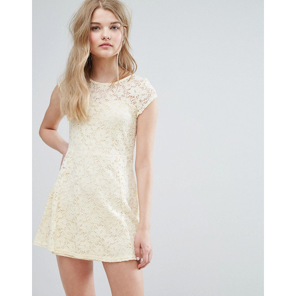 "PUSSYCAT LONDON Lace Skater Dress - """"Casual dress by Pussycat London, Lined lace, Crew neck,..."