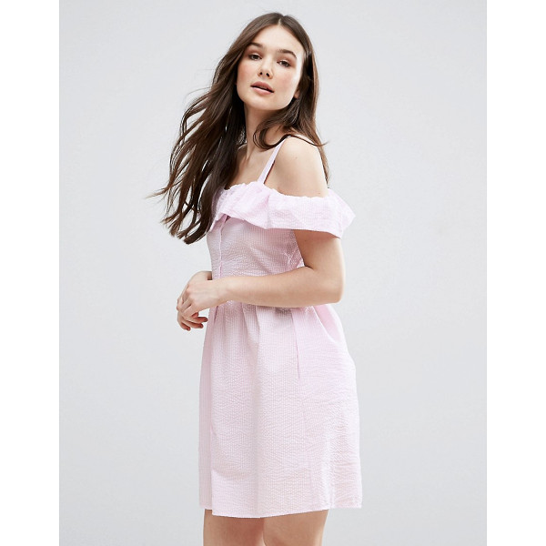 """QED LONDON Frill Detail Skater Dress - """"""""Evening dress by QED London, Textured woven fabric,..."""
