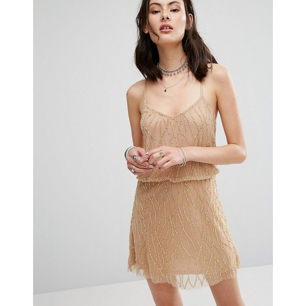 """RAGA Dust In The Wind Beaded Dress - """"""""Party dress by Raga, Heavyweight lined mesh, Beaded cami..."""