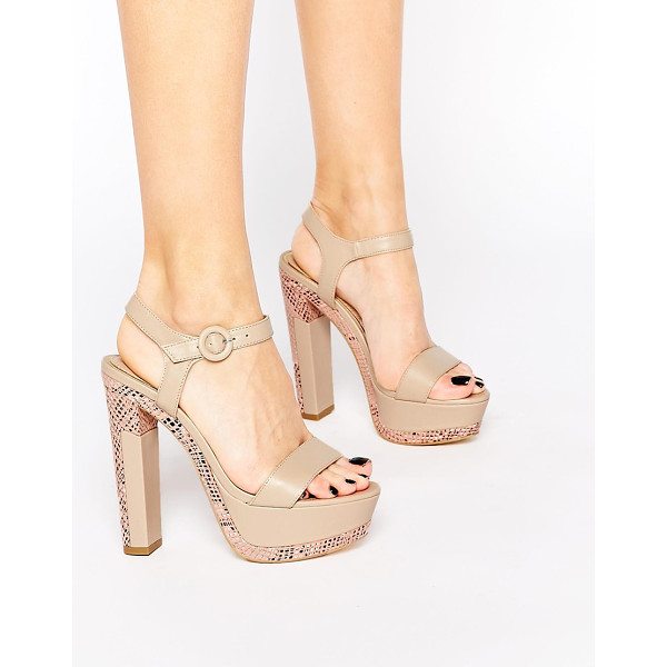 RAVEL Platform heeled sandals - Shoes by Ravel Patent leather-look upper Pin buckle...