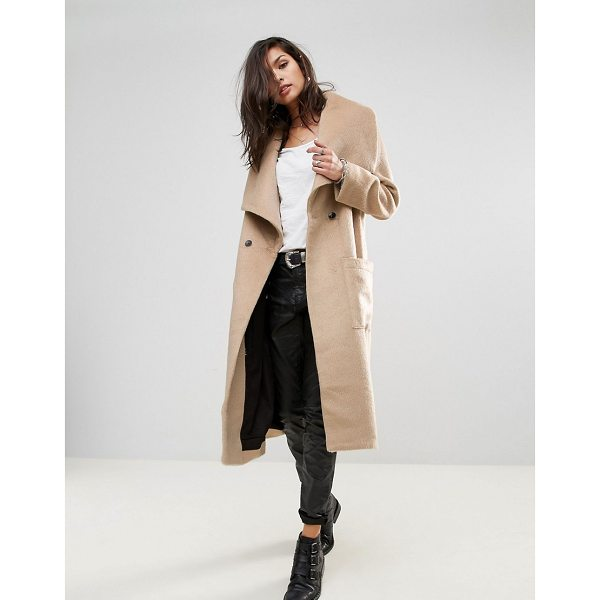"RELIGION Craft Coat - """"Coat by Religion, Brushed textured fabric, Contrast..."
