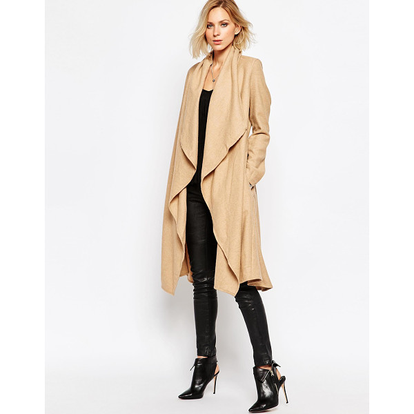RELIGION Freedom coat - Coat by Religion Pure wool Open front Waterfall lapels...