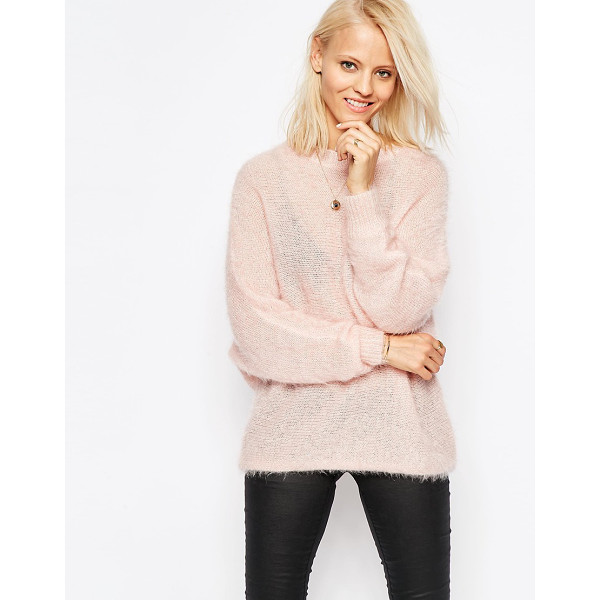 RELIGION Liason draped sweater - Sweater by Religion, Soft-touch fluffy knit, Lightweight...