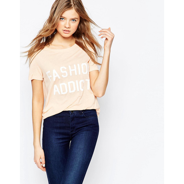 SELECTED Addict Short Sleeve T-Shirt - Top by Selected, Super soft-touch jersey, Scoop neckline,...