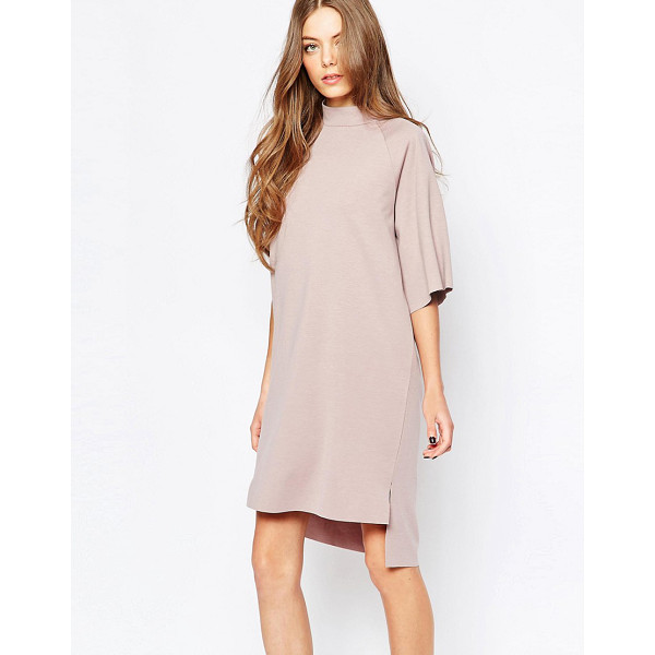 SELECTED Coda High Neck Dress - Dress by Selected, Smooth knit fabric, High neckline, Crop...