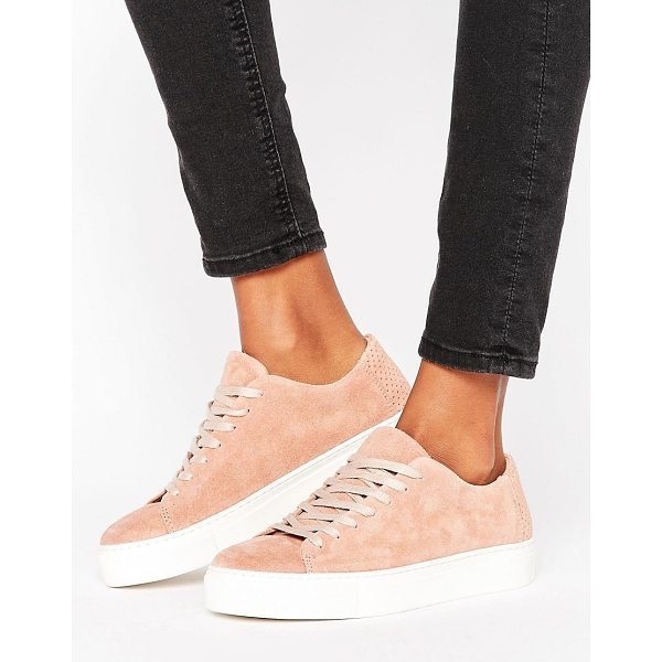 SELECTED Donna New Suede Sneaker - Sneakers by Selected, Suede upper, Lace-up fastening,...