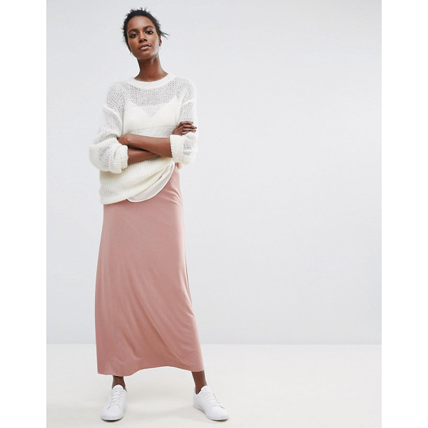 SELECTED Long Line Maxi - Maxi skirt by Selected, Soft-touch woven fabric, High-rise...