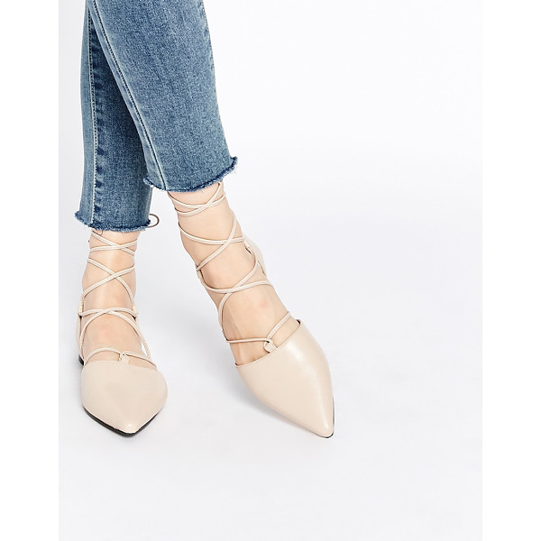 SENSO Gordon nude leather ghillie pointed toe shoes - Shoes by Senso, Leather upper, Lace-up fastening, Pointed...