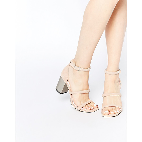 SENSO Robbie v blush suede block heeled sandals - Sandals by Senso, Suede upper, Slim foot straps, Pin buckle...