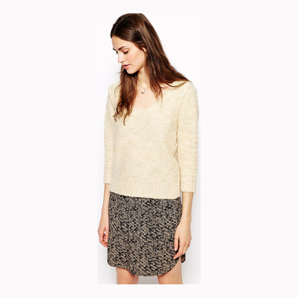 SESSUN Whitebait knitted sweater with chain detail - Sweater by Sessun Textured knit fabric Scoop neck Cropped...