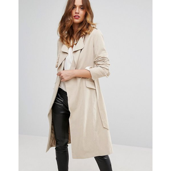 SISLEY Belted Trench Coat - Coat by Sisley, Super-soft-touch fabric, Fully lined,...