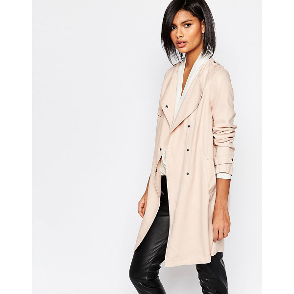 SISLEY Lightweight trench coat in light pink - Coat by Sisley Lightweight woven fabric Unlined Waterfall...