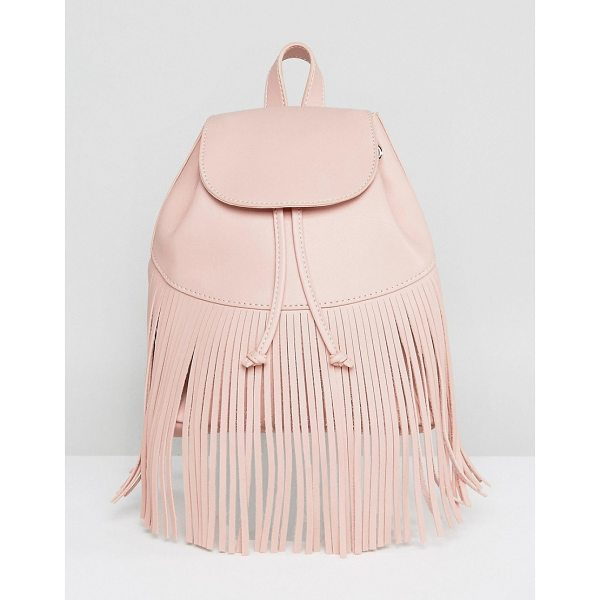 """SKINNYDIP Fringe Detail Backpack - """"""""Backpack by Skinnydip, Faux-leather outer, Fully lined,..."""