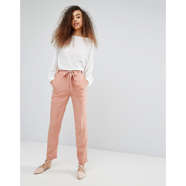 "SOAKED IN LUXURY Soaked In Luxury Silky Belted Pant - """"Pants by Soaked In Luxury, Soft-touch silky-feel fabric,..."