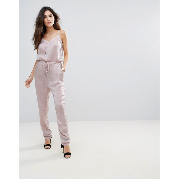 "SOAKED IN LUXURY Soaked In Luxury Silky Drawstring Jumpsuit - """"Jumpsuit by Soaked In Luxury, Super lightweight fabric,..."