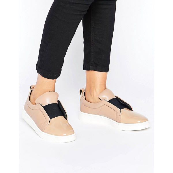 SOL SANA Mickey Nude Patent Leather Slip On Sneakers - Shoes by Sol Sana, Patent leather upper, Elasticated