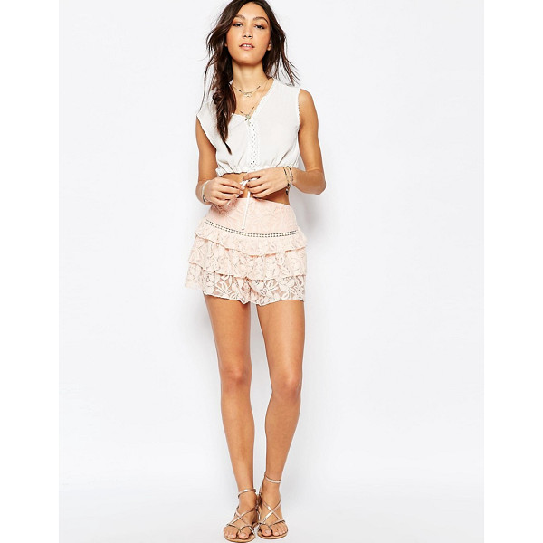 SOMEDAYS Lovin Verona Lace Frill Shorts - Shorts by Somedays Lovin, Lined lace, High waist, Frill...
