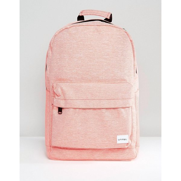 """SPIRAL Backpack in Apricot Marl - """"""""Backpack by Spiral, Fabric outer, Marl finish, Branded..."""