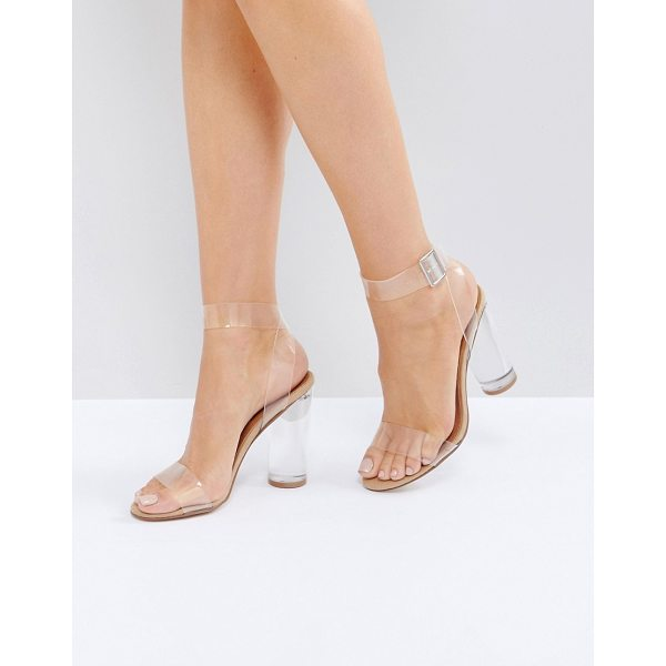 "STEVE MADDEN Clearer Barely There Heeled Sandals - """"Heels by Steve Madden, Clear plastic upper, Barely-there..."