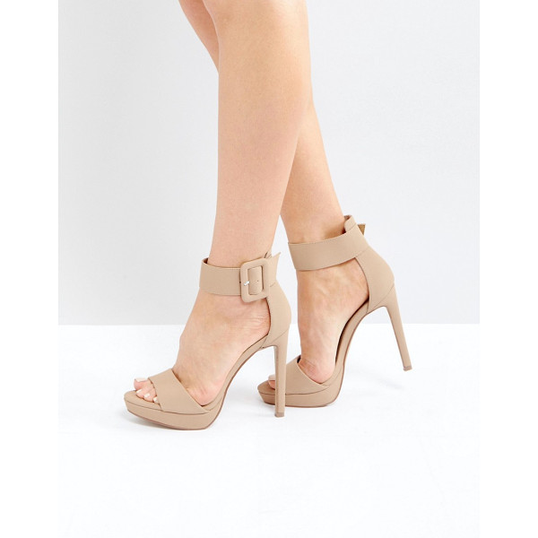 "STEVE MADDEN Coco Heeled Sandals - """"Sandals by Steve Madden, Faux-leather upper, Ankle-strap..."