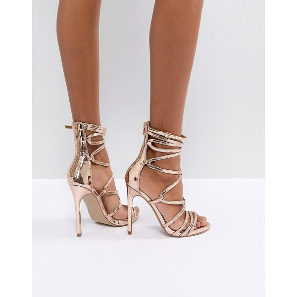 "STEVE MADDEN Flaunt Heeled Sandals - """"Heels by Steve Madden, Metallic finish, It's time to..."